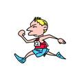 marathon runner cartoon hand drawn image vector image vector image