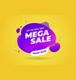 mega sale banner template design vector image vector image