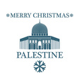 Merry Christmas Palestine vector image vector image