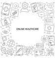 online healthcare and medicine pattern vector image vector image