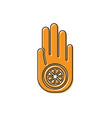 orange symbol jainism or jain dharma icon vector image vector image