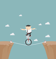 Overcome obstacles in life vector image