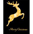 reindeer golden vector image vector image