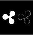 ripple icon set white color flat style simple vector image