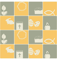 Seamless background with easter symbols vector image