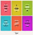 Set of Positive Quote Typographical Background vector image vector image