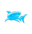 shark identity logo outline isolated concept vector image vector image