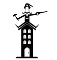 smiling worker renovates a building vector image vector image