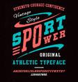 sport power font vector image vector image