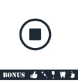 Stop icon flat vector image vector image