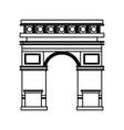 triumph arch monument icon vector image vector image