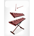 Two Retro Xylophone with A White Banner vector image vector image