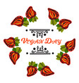 vegan product label world vegan daystrawberry vector image