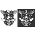 vintage policeman label concept vector image vector image