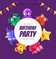 welcome birthday party banner template invitation vector image