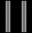 white and black seamless tire track vector image vector image