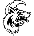 wolf - halloween set vector image vector image