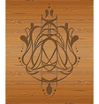 Wood texture with abstraction vector image vector image