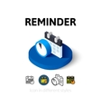 Reminder icon in different style vector image