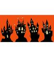 Set of halloween black castle vector image