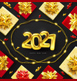 2021 background for christmas and happy new year vector image