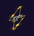 abstract geometric background neon sports poster vector image vector image
