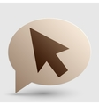 Arrow sign Brown gradient icon on vector image vector image