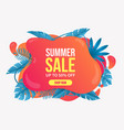 beautiful summer sale background with leaves vector image vector image