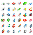 business statistics icons set isometric style vector image vector image