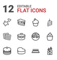 cake icons vector image vector image
