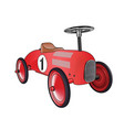 car toy red vector image vector image