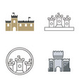 castle logo design vector image