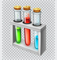 chemical flask test tube 3d icon vector image