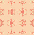 christmas new year seamless pattern red vector image vector image