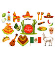 cinco de mayo mexican fiesta party icon design vector image vector image