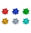 collection colored bow ribbons isolated on vector image