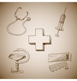 collection medical symbols vector image