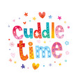 cuddle time vector image vector image