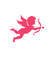 cupid angel of love silhouette symbol of love vector image