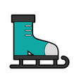 cute ice skate cartoon vector image vector image