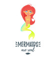 cute mermaid character vector image