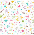cute sea summer seamless pattern with pearls vector image vector image