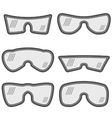 Different Ski Goggles vector image vector image