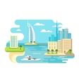 Dubai City Beach Skyline vector image vector image