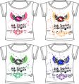 fashion wing tee vector image vector image