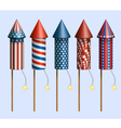 Firework Rockets vector image vector image