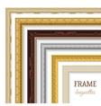 Frame Baguettes Set vector image vector image