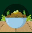 fresh fruits kiwi cartoon vector image vector image