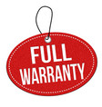 full warranty label or price tag vector image
