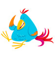 funny colorful bird cartoon animal character vector image vector image